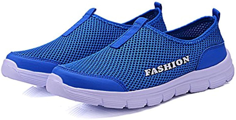 HAOYUXIANG Zapatos casuales zapatos de red hombres transpirable tela neta hombres Deportes casuales zapatos pareja  -