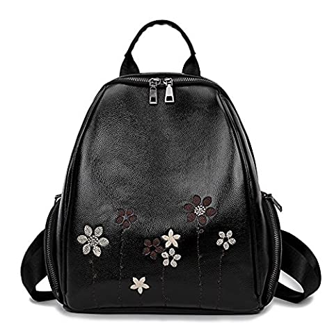 Meoaeo Fresh Lovely Embroidered Backpack Lady Bag