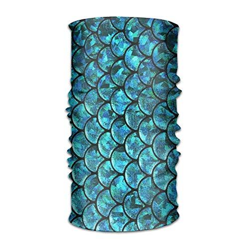 Qinckon Mermaid Fish Scale Headwear Bandanas Nahtloses Kopftuch Outdoor Sport Kopfschmuck 19,7x9,85 (Zoll) / 50x25 (cm) -
