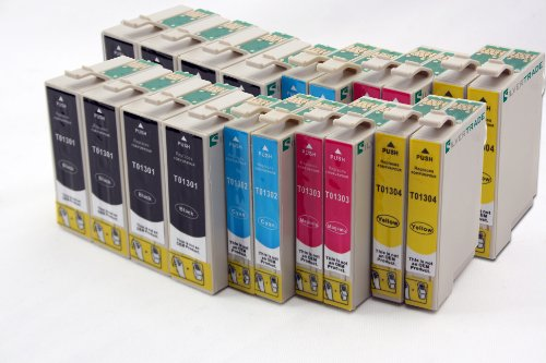 20 x Compatible tinta cartuchos reemplazo for EPSON T1305 (8 x black & 4 x cyan / magenta / yellow)