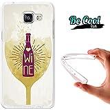 BeCool® Fun - Coque Etui Housse en GEL Flex Silicone TPU Samsung Galaxy A5 2016 , protège et s'adapte a la perfection a ton Smartphone et avec notre design exclusif.J'aime le vin
