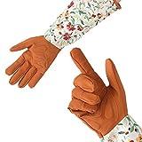 1 Paar Langarm Gartenhandschuhe Arbeitshandschuhe Handschutz für Gartenbau Beschneiden Pflücken Garten Hof Beschneiden Trimmen Verwenden Unisex