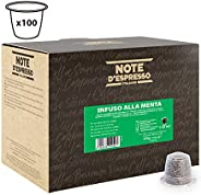 Note d'Espresso Mint infusion Capsules 2g x 100 Capsules Exclusively Compatible with Nespresso* machines