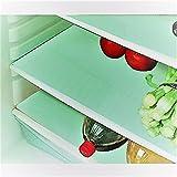 #9: RajasthaniKart Refrigerator Drawer Mats / Fridge Mats /Multi Purpose Mats Pack Of 6 Pcs 14X20 Inches(Green) (Large, 20)