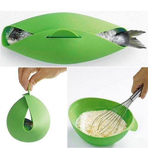 Silikon-Faltschüssel Mikrowellenofen-Dampfgarer Soft-Paste Silikon faltbare Schüssel Backen Fisch Dampf Bräter Brot Lebensmittel Kochen Werkzeug (Mikrowelle Dampfgarer Silikon)