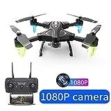 ZHTY RC Drone avec 480P / 1080P Caméra HD 2.4G Grand an One Key Retour Pliable Holdable Formation WiFi Cadeau RC Quadcopter FPV pour Débutant Jouets Enfants Cadeau