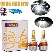9005HB3H10reemplazar bombillas LED para faros delanteros de luz de carretera/luz de cruce 120W 12000LM 6000K Blanco frío Color Plug & Play todo en uno Kit de conversión UK barco