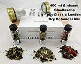 Ginfuser mit Botanicals für 400 ml Gin - Gin machen - Gin selbst machen - Gin Geschenkset - Gin zu Hause einfach herstellen (Classic Dry Gin)
