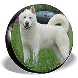 Alice Eva Copriruota di scorta Copriruota per Cani Giapponesi Akita Bianchi Protezioni per Pneumatici universali