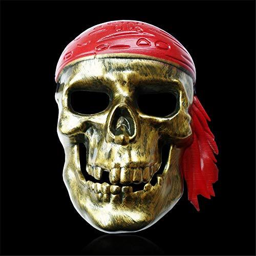 NUOKAI Halloween April Fools Day Maskerade Horror Gesicht Galvanik Piraten Maske Cosplay Requisiten