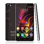 OUKITEL C5 Pro Android 6.0 Smartphone, Unlocked 5.0 Inch HD Display 4G Dual SIM Free Mobile Phones MTK6737 Quad Core 1.3GHz 2GB RAM 16GB ROM with Dual Camera (Black)