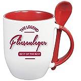 Sprüche Tasse Kaffee macht schön + Löffelbecher Rot BEST OF THE BEST FLIESENLEGER. 2 Tassen ein Preis. Siehe Produktbild 2.