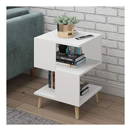 Wohnzimmer Moderner Couchtisch Massivholz Bein Aufbewahrungstisch Schwimmende Fenster Mini Talk Teetisch Schlafzimmer Nachttisch (Color : E) -
