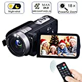 Digital Camcorder with IR Night Vision, IBACAKYS Portable Mini Handheld Video Camera 24.0