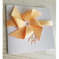Partecipazione matrimonio con busta e stampa personalizzata SET 10 pezzi mod.girandola