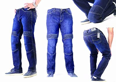 HB's Bikers DuPontTM Kevlar® Jeans. Motorcycle Motorbike Bikers Jeans with Knee Stretch Panels.