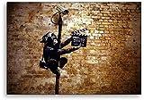 Banksy Druck auf leinwand Banksybilder Graffiti - Bild Leake Street ! Bild fertig auf Keilrahmen !Kunstdrucke, Wandbilder, Bilder zur Dekoration -Banksy Stree (20x30cm)