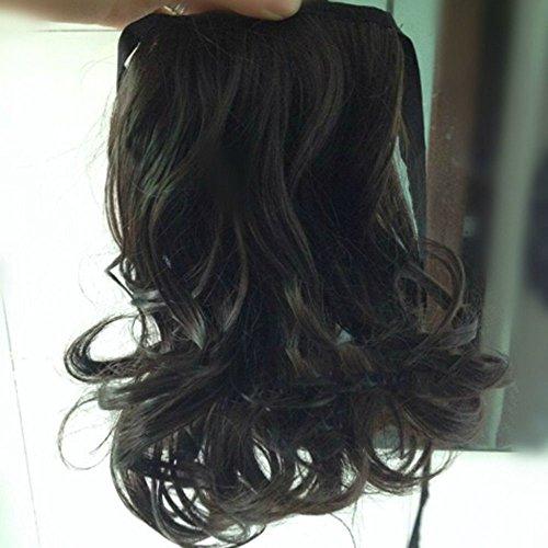 Pferdeschwanz Perücken (spritech (TM) neuen, stilvollen flauschig Realistic Hair Pferdeschwanz Perücke Haarteil, gewellt, Schwarz / Braun,)