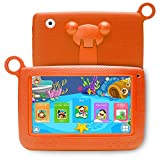 NPOLE Kids Tablet Android 7 Inch 1280x800 IPS Display with Parental Control Software - iWawa 8G ROM 1G RAM Wifi Camera 3D Game HD Video Supported (Orange)