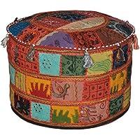 Indiano ottomano Impreziosito Vintage con ricamo e