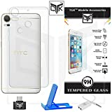 HTC Desire 10 Pro Back Cover + Tempered Glass + OTG Adapter + Mobile Stand + Audio Splitter - SUPER Value Combo From TheGiftKart&trade: