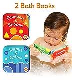 """Alphabet & Nummern Bücher, von Baby Bibi. 2 Baby Badebücher. Badebücher für Säuglinge 2-IN-1 Wasserfestes Badewannen Lernen 3.5""""x3.5""""."""