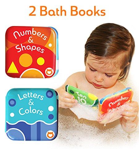 ücher, von Baby Bibi. 2 Baby Badebücher. Badebücher für Säuglinge 2-IN-1 Wasserfestes Badewannen Lernen 9 cm x 9 cm ()