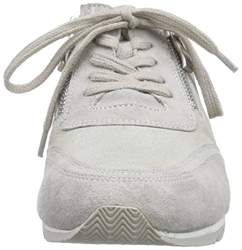 Caprice 23652, Baskets Basses femme Gris - Grau (SILVER/GREY SU 920)