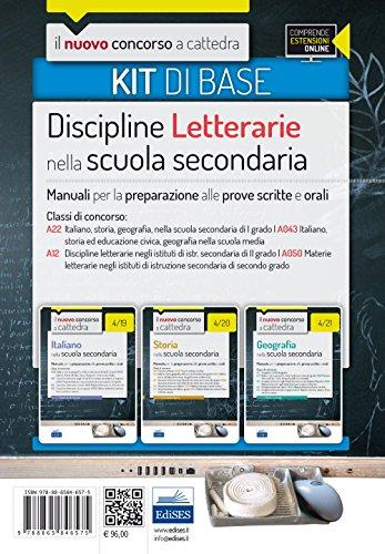 Il nuovo concorso a cattedra. Classi A22 (A043), A12 (A050) kit discipline letterarie. Manuali per la preparazione alle prove scritte ed orali. Con espansione online