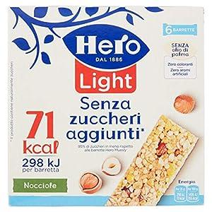 Hero Light Barrette ai Cereali Nocciola - 1 Confezione da 6x20 gr 2 spesavip