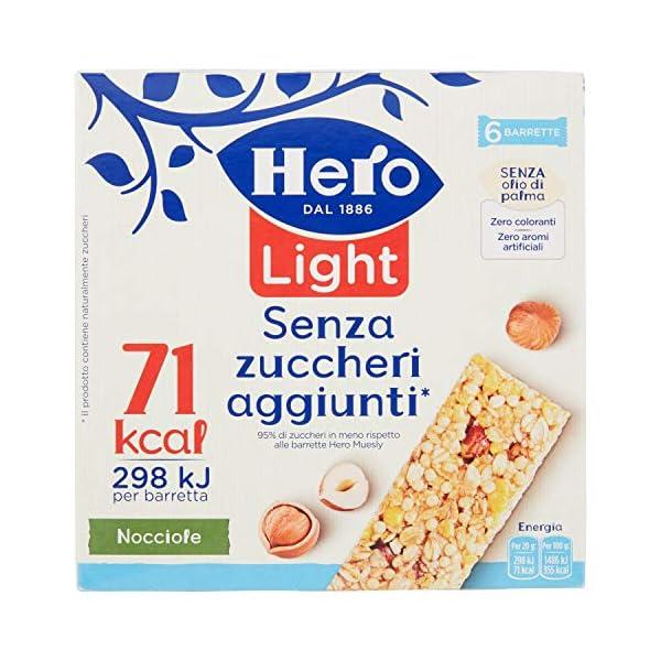 Hero Light Barrette ai Cereali Nocciola - 1 Confezione da 6x20 gr 1 spesavip