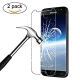 Verre Trempé Samsung Galaxy J7 2017,Bigmeda 9H Glass Sans Bulles d'air Film Protection écran pour J7 2017 Screen Protector Vitre- ANTI RAYURES