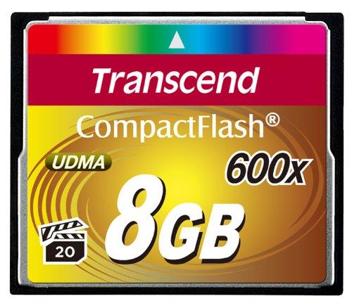 Transcend Ultimate 600 x 8GB CompactFlash (CF) Speicherkarte (bis 70MB/s, Quad-Channel)