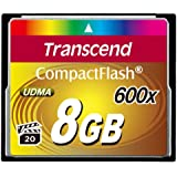 Transcend Ultimate 600x 8GB CompactFlash (CF) Speicherkarte (bis 70MB/s, Quad-Channel)