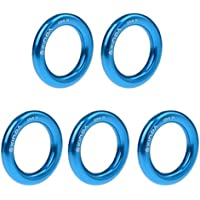 MagiDeal 5 Piezas 22kn Anillo Rappel Bail-out Conector Escalada de Roca Rescate - Azul, Grande