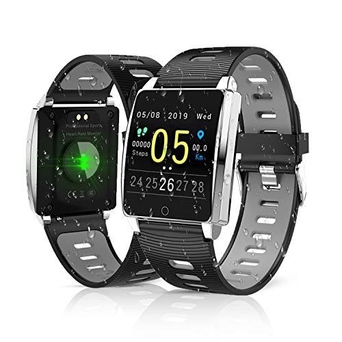 KINGLINK Smartwatch, Fitness Armband Mit Pulsmesser, IP68 Wasserdicht Smart Watch Schrittzähler Armbanduhr Uhr Fitness Tracker für Damen Herren Kinder Android iOS