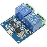 Flushzing LCU-2 5V USB-Relay-Modul USB Intelligent Control Switch Elektronischer Konverter PCB Relaismodul