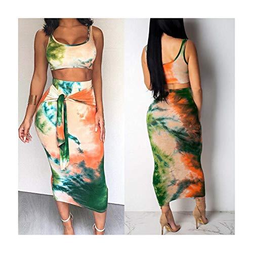 MOOPYS& Women's Summer Boho Casual Long Maxi Evening Party Cocktail Beach Dress Sundress Style2-Green XXL