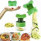 zolimx Espiral verdura fruta rebanador cortador rallador Twister pelador cocina Gadgets herramientas (A)