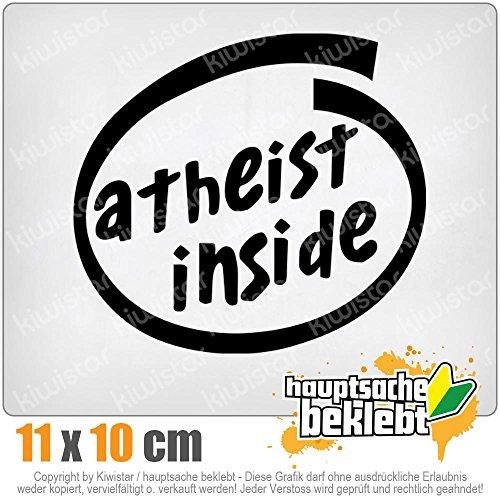 KIWISTAR Atheist Inside 11 x 10 cm IN 15 FARBEN - Neon + Chrom! Sticker Aufkleber