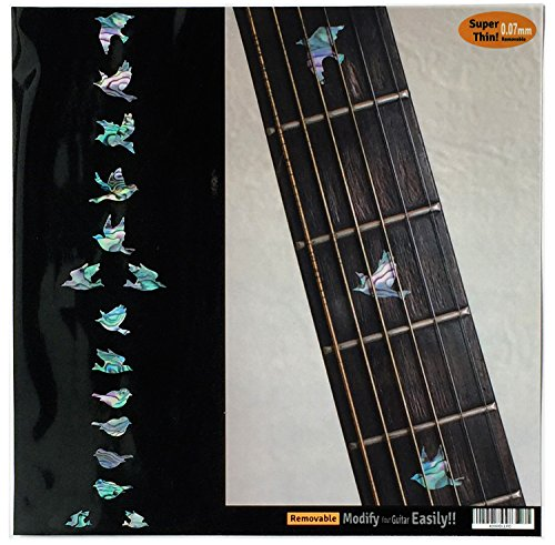 Griffbrett Marker Inlay Aufkleber Decals für Gitarre Bass-Dove (Mix)