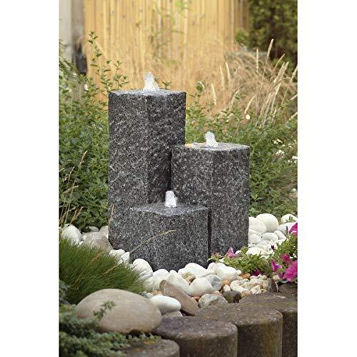 Fontaine de jardin sirene oslo ubbink eclairage led 1386064