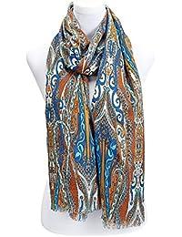 Gemusterter, offener Schal mit Paisleydruck in verschiedenen Farben