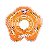 Xueliee Baby Schwimmen Ring, aufblasbar Baby Pool Schwimmbrett mit Sitz ideal für Kinder Planschbecken, D2 Orange/Fits: 0-18 Months Baby