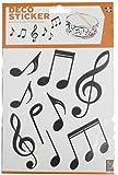 Plage 156004 Musique Lot de 2 planches de stickers muraux 18,5 cm x 15 cm