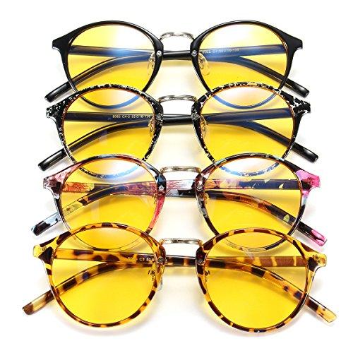 Global Brands Online Unisex Blaulichtschutzbrille, Strahlungsschutz, gelbe Gläser, Computerbrille
