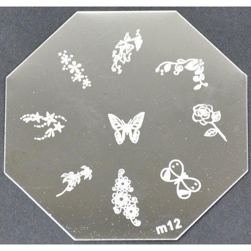 Nail Art emboutissage des tôles - M01 CODE : M12-plaque