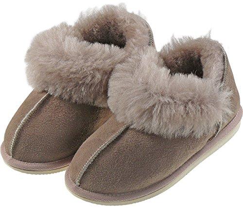 Extra dicke Lammfell Schuhe mit Umschlag Sand