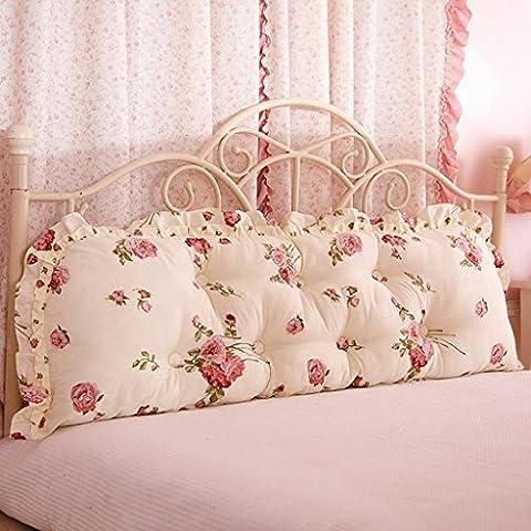 BSNOWF- Double oreiller long Lit de chevet Grande canapé-lit Canapé Big Cushions Core ( taille : 120*53cm )