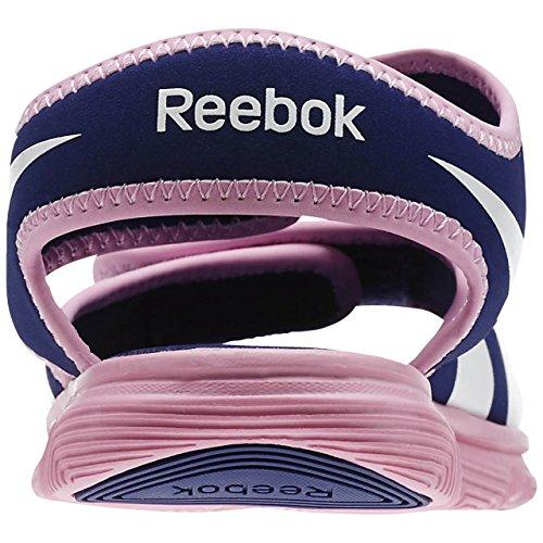 Reebok Wave Glider,, Mädchen Sneaker Blau / Rosa / Weiß (Night Beacon/Icono Pink/Weiß)